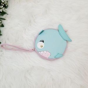 Betsey Johnson NWT Baby Shark Turquoise Wristlet